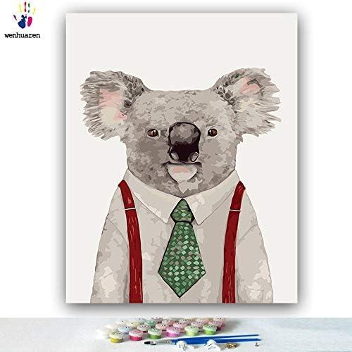 tienda en linea KYKDY KYKDY KYKDY Dibujos para Colorar de DIY por números con Colors Ilustración animal Mr. Animal imagen dibujo pintura por números enmarcados Inicio, 6584,60x75 sin marco  más descuento