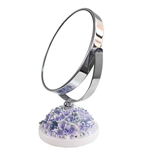 DCLINA Espejo Maquillaje para Mujer, Espejo Maquillaje para Mujer Doble Cara/Espejo tocador portátil, diseño rotación 360 Grados, 3 Colores