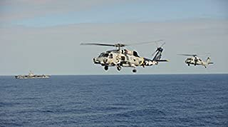 Posterazzi Poster Print Collection Two MH-60 Sea Hawk Helicopters During an Air Demonstration Stocktrek Images, (17 x 11), Multicolored