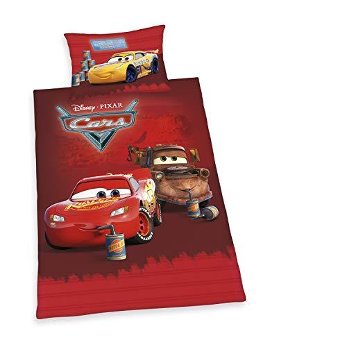 Herding Disney Cars Set di Biancheria da Letto, Cotone, Rosso, 65 x 100, 160 x 210 cm