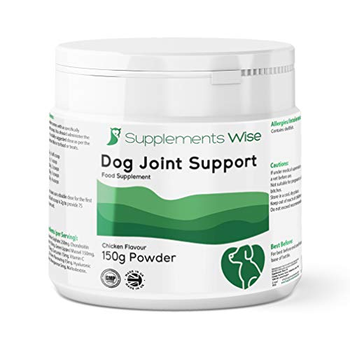 Dog Supplement For Joints - With Glucosamine Chondroitin, Green Lipped Mussel, MSM, Curcumin, Hyaluronic Acid & More - 150g Powder With Serving Scoop - Joint Care & Support for Young and Senior Dogs