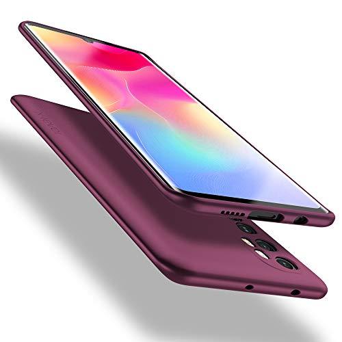 X-level Xiaomi Mi Note 10 Lite Hülle, [Guardian Serie] Soft Flex TPU Hülle Superdünn Handyhülle Silikon Bumper Cover Schutz Tasche Schale Schutzhülle für Xiaomi Mi Note 10 Lite - Weinrot