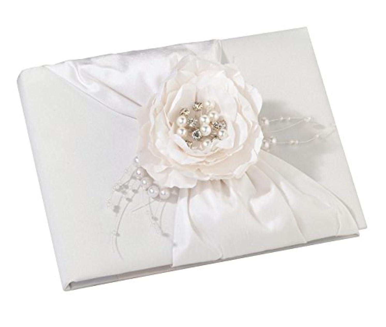 Lillian Rose White Flower Decor Wedding Guest Book
