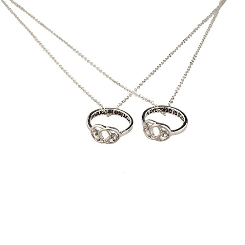 Lux Accessories A Promise is Forever Infinity Knot BFF Best Friends Matching Ring Necklace Set