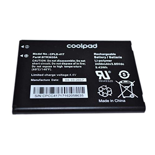 Genuine OEM Coolpad Battery CPLD-417 for Defiant 3632A in Non-Retail Packaging