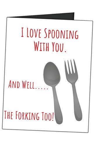 I Love Spooning With You. And Well..... The Forking Too!: Funny Fork Spoon Utensils Naughty Gag Gift Sarcastic Blank Lined Writing Journal (Alternative Card) For Couples