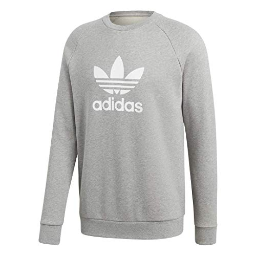 adidas Originals mens Trefoil Warm-Up Crew Sweatshirt Medium Grey Heather Medium
