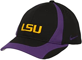 online store 049bd 0061b Nike LSU Tigers Youth Black-Purple Team Flex Hat