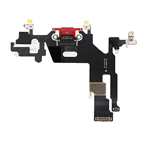 Best Shopper - Replacement Charging Charge Port Flex Cable Compatible with Apple iPhone 11 (A2111) - Red
