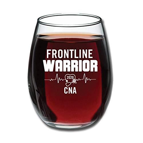 Bohohobo Libbey Weinglas ohne Stiel 2020 Frontline Warrior CNA 350 ml Weinglas für Rot- und Weißweine spülmaschinenfest, herzwärmendes Geschenk für lustige Weißweine 350 ml