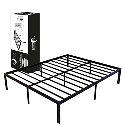 Dreamzie - Somier 160 x 200cm con Patas de 36cm - Bastidor de Cama Individual Plegable Metálico - Montaje Sencillo - Resistente