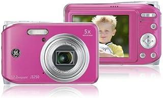 GE General Electric J1250 Digitalkamera (12 Megapixel, 5 Fach Opt. Zoom, 6,9 cm Display (2,7 Zoll), Auto Panorama, Bildstabilisator, Li Ion Akku) pink