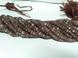Jewel Beads Natural Beautiful jewellery 5 Strands Coffee Moonstone Brown Moonstone Rondelle Beads 13 Inch Strand - Brown Rondelle Beads Chocolate Moonstone Faceted Rondelles 3.5-4.5mmCode:- JBB-44155