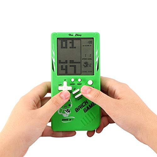 HANYF Rétro Console De Jeu Portable, Tetris Jeu Enfance Classique Jouets De Jeux Électroniques, Jouets Éducatifs pour Enfants, Composants Plastiques + Électriques,Vert