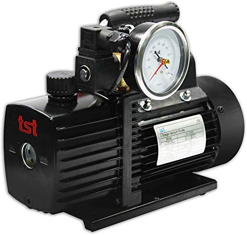 GASMOBE Bombas de vacío con electroválvula y vacuómetro solenoide 10 CFM 220V 50/60Hz Modelo: TST-30NV / TWO STAGES VACUUM PUMPS