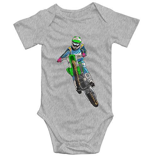 SOSOCUTE Gray Baby Jersey Bodysuit Motocross Funny Jumpsuit 2T