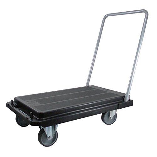 Deflecto Foldable Platform Cart Dolly, Heavy Duty Casters, 500 lb Capacity, Black