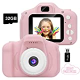 GlobalCrown Kids Camera,Mini Rechargeable Child Digital Camera Shockproof Video Camcorder Gifts for 3-8