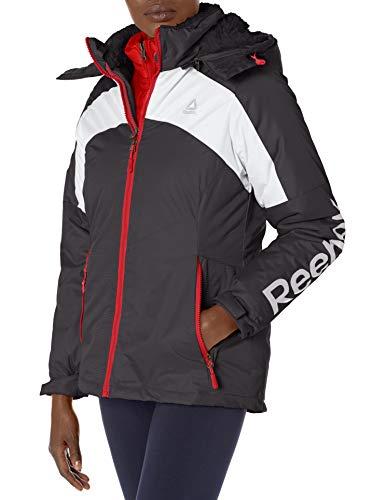 Reebok Women's Active Jacket, Ski System Black pop, S