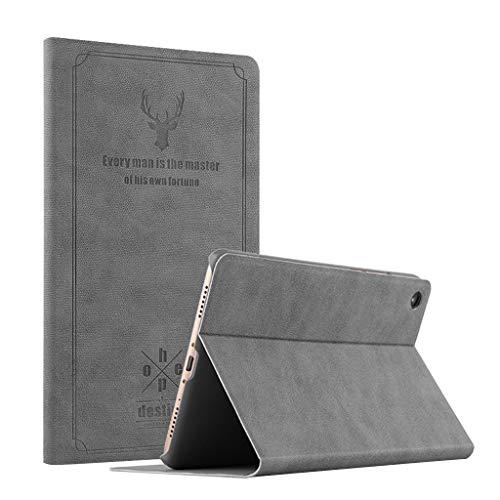 Für Xiaomi MiPad 4 Hülle,Colorful Xiaomi Mi Pad 4 Schutzhülle Hochwertige Retro Lederhülle [Ultra Schlank] [leicht] Ständer Cover für Xiaomi Mi Pad 4 (Schwarz)