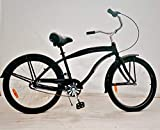 "movable Men's Shimano Nexus 3s Beach Cruiser Bicycle, 26"" Wheels/17 Aluminum Frame in Black"