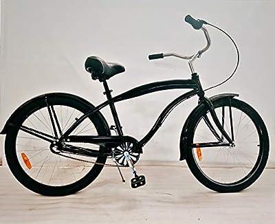 "movable Men's Shimano Nexus 3s Beach Cruiser Bicycle, 26"" Wheels/17 Aluminum Frame in Black"