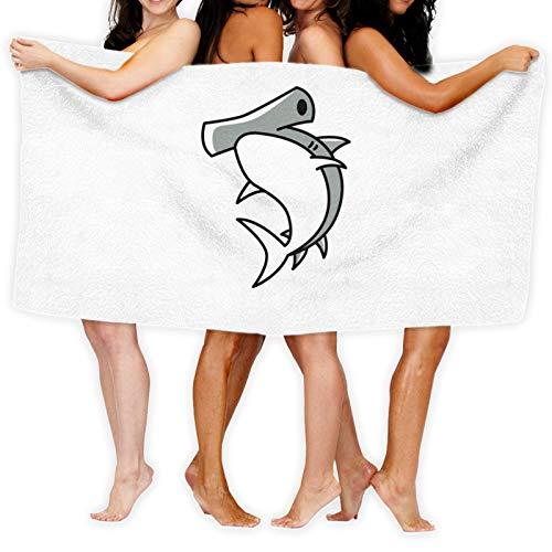 Hammerhead - Toalla de baño, diseño de tiburón con emoticono de dibujos animados