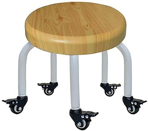 dh-8 Taburetes Bajos con 5 Ruedas de Freno, Taburete hasta la Rodilla, cómodo sillón de Escritorio pequeño, Taburete para bañera, polea Corta, sillas de Director, Taburete de Cocina, Comedor