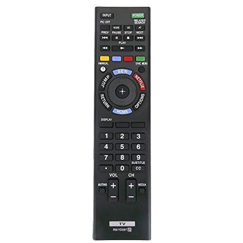 RM-YD087 RMYD087 Remote Control fit for Sony 3D Bravia LCD LED HDTV TV XBR-55X850A XBR-55X850AX XBR-55X855A XBR-55X900A XBR-55X900AX XBR-55X905A XBR-65X850A XBR-65X850AX XBR-65X900A (149198711)