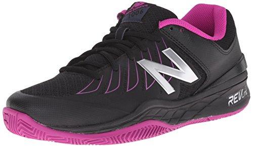 New Balance Women's 1006 V1 Tennis Shoe, Black/Pink, 11 N US