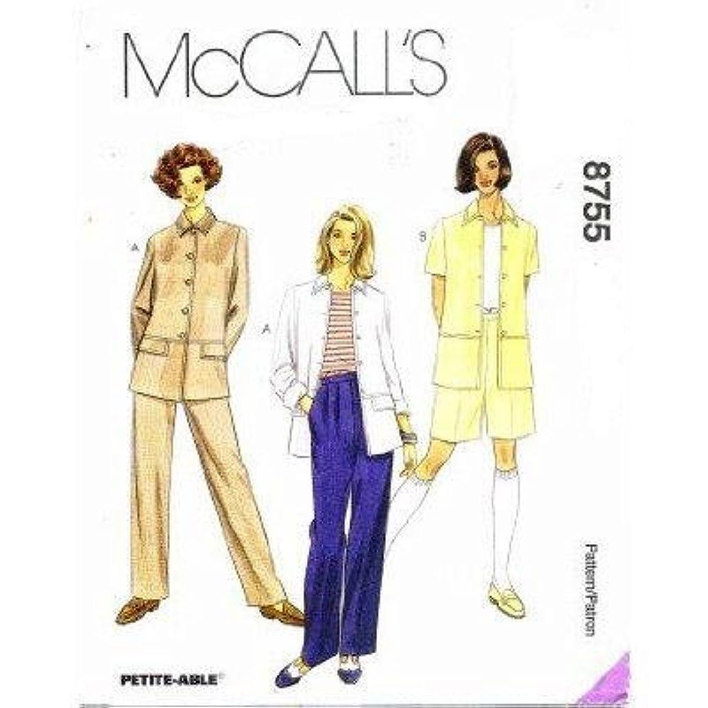 McCall's Pattern 8755 ~ Misses' Unlined Jacket, Pants & Shorts ~ Size D (12 14 16)