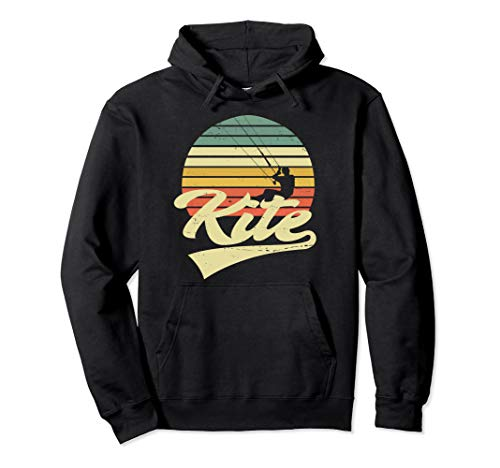KITE Kiten Kiteboarding Kitesurfen Surf Vintage Retro Pullover Hoodie