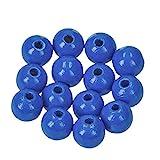 EFCO 1400848 10 mm 53-Stück Holzperlen, Mittel-Blau