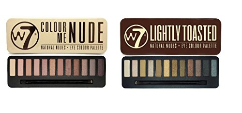 W7 In The Buff Lightly Toasted & Colour Me Nude Eye Shadow Palette Set
