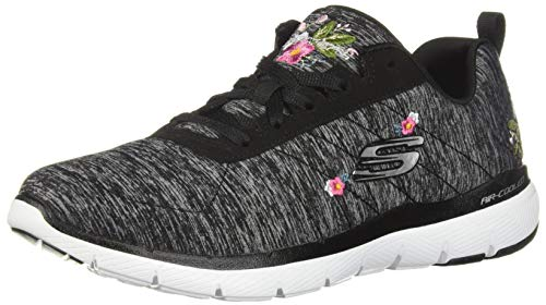 Skechers Womens 13074-BKW_36 Sneakers, Black, EU