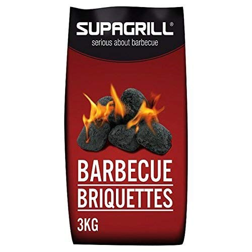 Supagrill 3KG Bag of High Quality Coal Briquettes Charcoal For BBQs
