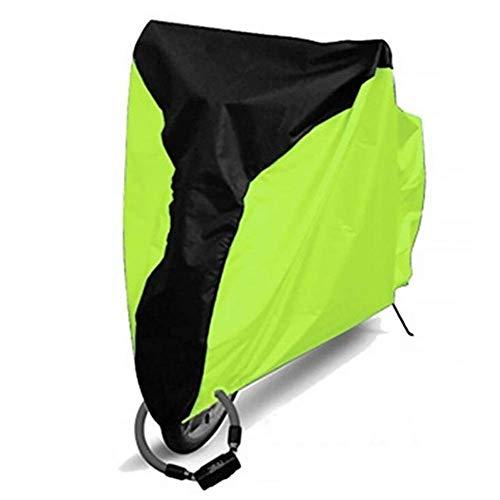 BAIYAN Funda de portabicicletas, Bikcoveroutdoostoragwaterproosnowaterproobikaiduscovebicyclcoveubrotectivfobikbicyclutilitcyclinoutdooraicobove (Color : Green, Size : Xlarge)