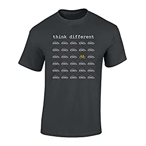 Cycling Jerseys T-shirt: Think Different – Bicycle Gifts for Men and Women – Cyclists – Mountain Bike – MTB – BMX – Fixie – Road Bike…