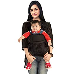 Luvlap Baby Carrier Blossom Black,Luv Lap,18172