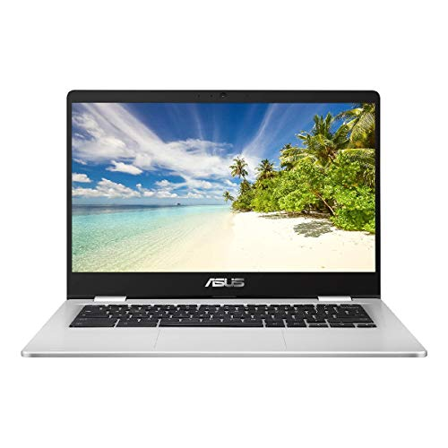 ASUS Chromebook C423NA (Silver) (Intel Celeron N3350, 4 GB RAM, 32 GB eMMC, 14 Inch HD Screen, Chrome OS)