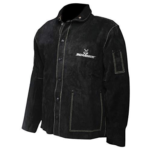 Caiman Black Boarhide – 30″Jacket, Welding-Apparel Large