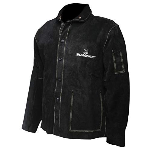 Caiman Black Boarhide - 30'Jacket, Welding-Apparel Medium