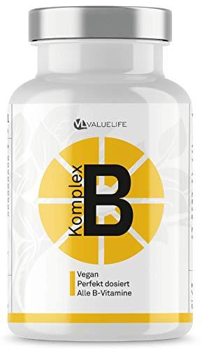 EINFÜHRUNGSPREIS Vitamin B Komplex – Perfekt dosiert mit allen 8 B-Vitaminen & Brain-Booster Ginkgo Biloba – Bioaktive Vitamine für beste Bioverfügbarkeit – 150 Portionen von Valuelife
