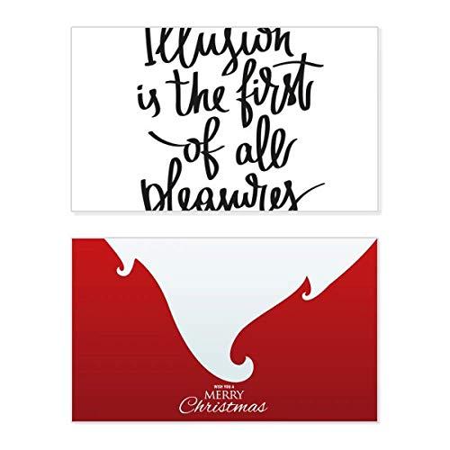 """""""Illusion Is the First of All Pleasures""""-Zitat, Weihnachtskarte, Vintage-Nachricht"""
