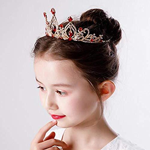 QWEASD Hoofdtooi Kinderen Kroon Meisje Prinses Hoofdtooi Toon Catwalk Jurk Accessoires Grote Hoofdband Meisje Verjaardag Gift Kroon