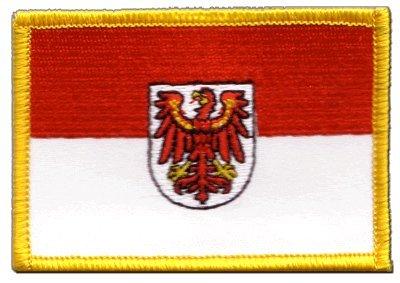 Aufnäher Patch Flagge Deutschland Brandenburg - 8 x 6 cm