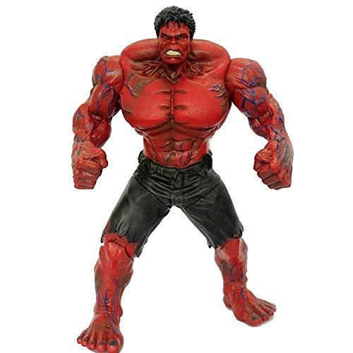 SZHSM Marvel Avengers: Action Figure Hulk da 11 Pollici / 27 cm (Rosso), Modello di Giocattolo for Bambini Hulk (i Giunti Possono Essere Attivi)