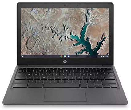 HP Chromebook 11-inch HD Laptop, MediaTek MT8183, MediaTek Integrated Graphics, 4 GB RAM, 32 GB eMMC Storage, Chrome OS (Gray)