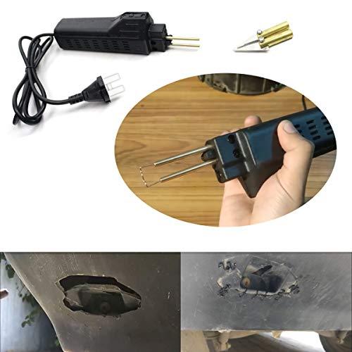 SAILINE - Kit de Grapadora Caliente de plástico para Reparar la Carcasa de la luz, grapadoras de Soldadura, Cuerpo del Coche y Herramienta de reparación de Guardabarros, con 200 Grapas