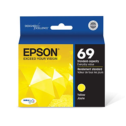 EPSON T069 DURABrite Ultra Ink Standard Capacity Yellow Cartridge (T069420-S) for select Epson Stylus and WorkForce Printers